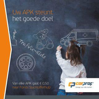 Met onze APK doen wij meer dan ervoor zorgen dat u weer veilig de weg op kan en uw auto aan alle milieueisen voldoet. Wij steunen met iedere APK direct Fondsslachtoffer Hulp. En u doet hieraan mee. Ook van uw APK gaat er 50 cent naar dit goede doel. Bedankt voor uw steun!