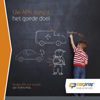 Met onze APK zorgen wij er niet alleen voor dat u weer veilig de weg op kan en dat uw auto aan alle milieueisen voldoet. Wij steunen met elke APK het project TrafVic-Kids van Fonds Slachtofferhulp. En u doet mee. Want ook van uw APK gaat € 0,50 direct naar dit goede doel. Bedankt voor uw steun!